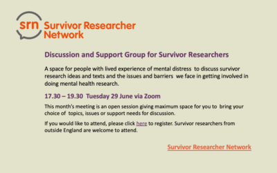 SRN Discussion and Support Group  – Tuesday 29 June