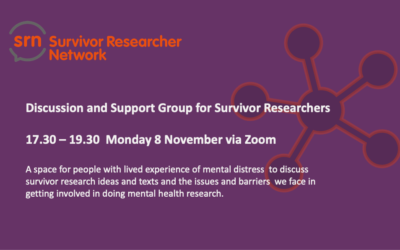 SRN Discussion and Support Group 8 November